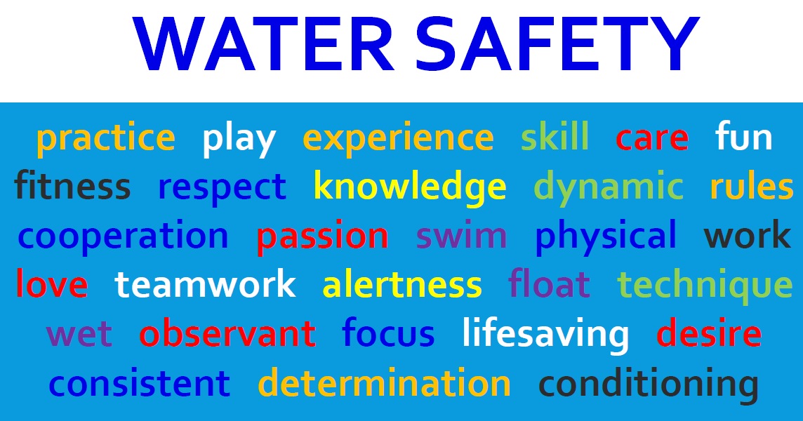 Water safety words