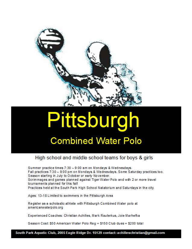 Brochure for age group water polo