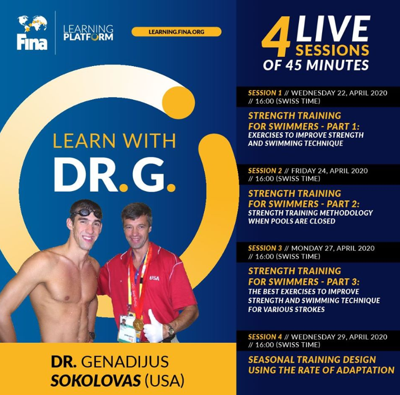 Invite to strength training sessions with Dr. G.