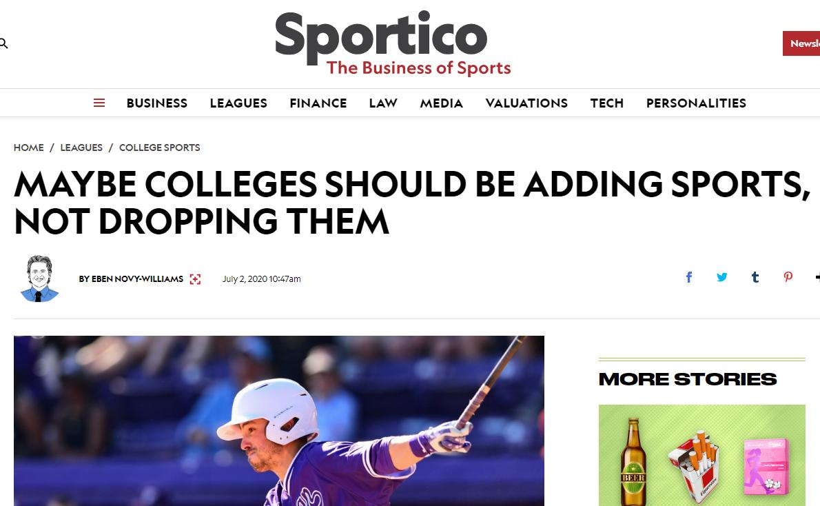 Add sports, not cut them