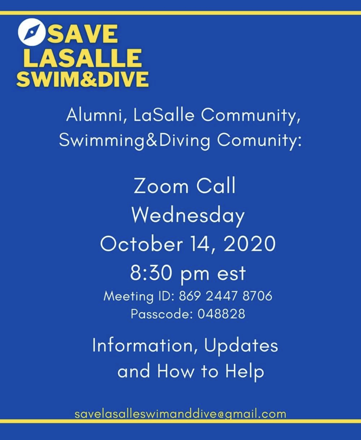 Call to Zoom with La Salle