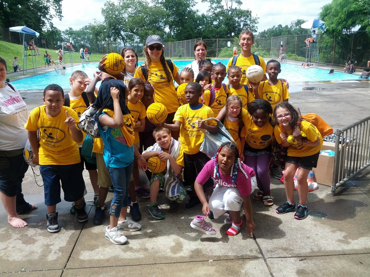 PPS Campers outside the swim pool