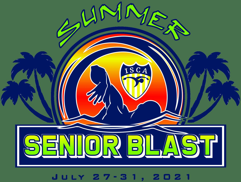 ISCA Summer Senior Blast 2021 swim meet logo